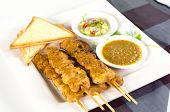Chicken Satay With Bread