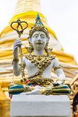 stock photo of genital  - Thai Angels Statue In Temple  - JPG