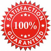 100% satisfaction guaranteed label