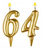 Birthday Candles Number Sixty Four