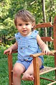 Cute Kid - Old Chair poster