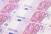 foto of fantail  - Five hundreds euro banknotes - JPG