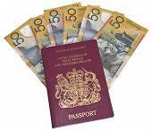 Fifty Euro Notes Inside A Passport