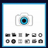 Camera icons - vector illustration