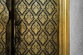 Traditional Thai's Pattern on the Door