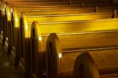 picture of church  - The inside of a Catholic church with the pews - JPG