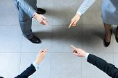 hands of businesspeople together