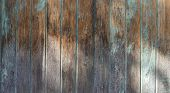 Old Wooden Planks With Cracked Paint