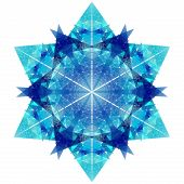 foto of symmetry  - snowflake shaped fractal with six ray symmetry - JPG