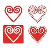 Abstract Hearth Icon Set