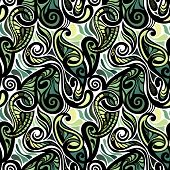 Colorful abstract seamless paisley pattern-
