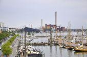 HELSINKI-AUGUST 23: Harbour from Helsinki in Finland on august 23