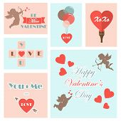Set of valentine's cards