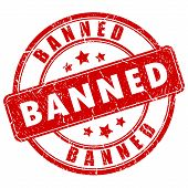 Banned vector stamp