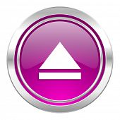 eject violet icon open sign