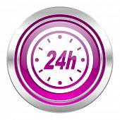 24h violet icon