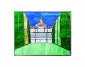 Handmade Stained Glass Composition With Oranienbaum Palace