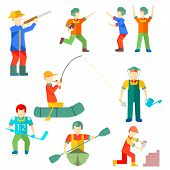 Flat icon people of different professions