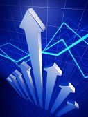 Business Financial Growth Arrow Pointing Up Concept