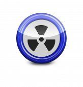 radiation blue icon on white background