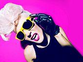 Emotional Glamorous Blonde Disco Punk Fashion Style