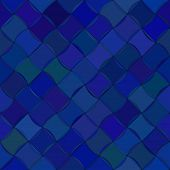 Abstract vector background Diagonal wavy tile Seamless pattern Dark blue