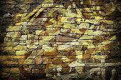 graffiti stone wall