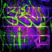 graffiti bricks wall