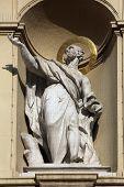 VIENNA, AUSTRIA - OCTOBER 10: Statue of apostle, Church of Saint Peter in Vienna, Austria on October 10, 2014.