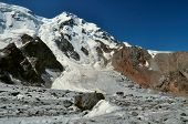 picture of shan  - Scenic view of glacier and highest peaks in Tien - JPG