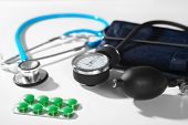 Phonendoscope And Pill