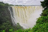 View of the Victoria waterfall in the Zambezi river, Zimbabwe, southern Africa