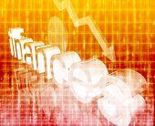 Finance Economy Worsening Concept