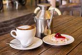 Closeup Of Hot Coffee