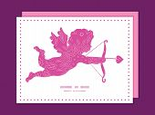 Vector pink abstract flowers texture shooting cupid silhouette frame pattern invitation greeting car