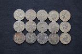 Australian 50 cent coins reverse side.