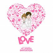 Wedding Invitation Card. Valentine Card