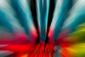 Blue,pink,red,green,orange Color Stripe Radial Motion Blur Abstract