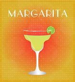 Drinks List Margarita With Red & Golden Background