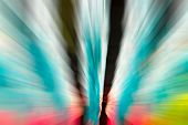 Blue,pink,green Color Stripe Radial Motion Blur Abstract