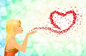 Girl Heart Sign Love Messages