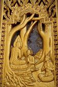 Wood Carving Thai Buddha Story Art