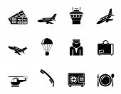 Silhouette Airport and travel icons