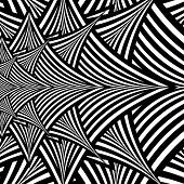 pic of hypnotizing  - Black and White Abstract Hypnotic Background - JPG