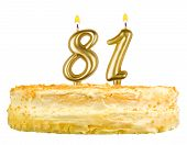 Birthday Cake With Candles Number Eighty One