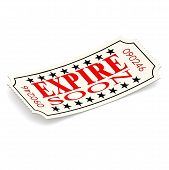 Expire Soon Ticket On White Background