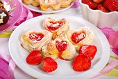 Heart Shaped Puff Pastry Cookies For Valentines