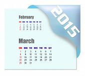 March 2015 calendar with past month series