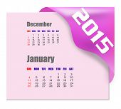 January 2015 calendar with past month series