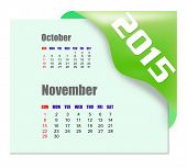 November 2015 calendar with past month series